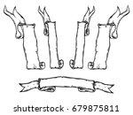 vintage hand drawn ribbon... | Shutterstock .eps vector #679875811