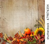 happy thanksgiving background | Shutterstock . vector #679876354