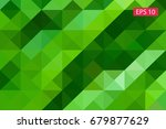 green abstract geometric... | Shutterstock .eps vector #679877629