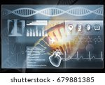 media medicine background image ... | Shutterstock . vector #679881385