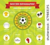 soccer infographic banner... | Shutterstock .eps vector #679883191