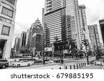 street corner at vancouver... | Shutterstock . vector #679885195
