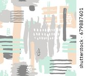 pastel colors hand drawn doodle ... | Shutterstock .eps vector #679887601