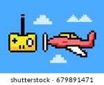 rc plane remote control   pixel ... | Shutterstock .eps vector #679891471