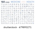 set of line icons  sign and... | Shutterstock . vector #679893271