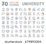 set of line icons  sign and... | Shutterstock . vector #679893304