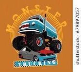 a vintage van based monster... | Shutterstock .eps vector #679897057