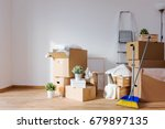 room full of box containers and ... | Shutterstock . vector #679897135