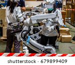 assembly of industrial robots ... | Shutterstock . vector #679899409