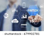 businessman using fintech ... | Shutterstock . vector #679902781
