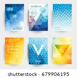 set of graphic templates with... | Shutterstock .eps vector #679906195