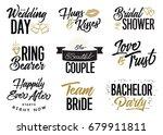 wedding lettering phrases... | Shutterstock .eps vector #679911811
