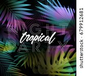 dark minimalistic tropical... | Shutterstock .eps vector #679912681