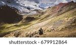 ausangate trek views in peru ...   Shutterstock . vector #679912864