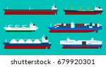 global logistics network flat... | Shutterstock .eps vector #679920301