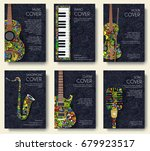 music magazine layout flyer... | Shutterstock .eps vector #679923517