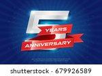 5 years anniversary background... | Shutterstock .eps vector #679926589