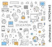 line banner for online... | Shutterstock . vector #679929445