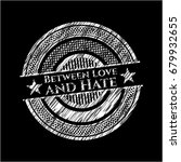 between love and hate on... | Shutterstock .eps vector #679932655