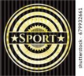 sport gold emblem   Shutterstock .eps vector #679932661