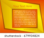 template orange  yellow and... | Shutterstock .eps vector #679934824