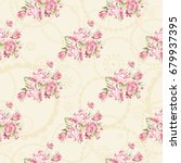 seamless floral pattern with... | Shutterstock .eps vector #679937395