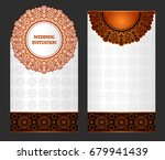 wedding invitation or card with ... | Shutterstock .eps vector #679941439