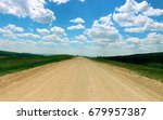 Wide Dirt Road Under Beautiful...