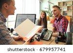 portrait of happy family reach...   Shutterstock . vector #679957741