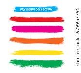 paint stripe . vector brush... | Shutterstock .eps vector #679957795