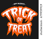 trick or treat background | Shutterstock .eps vector #679959919