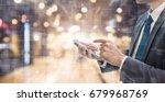 business man using smart phone... | Shutterstock . vector #679968769
