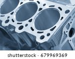 close up of the cylinder block... | Shutterstock . vector #679969369