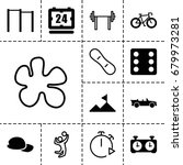 sport icon. set of 13 filled...   Shutterstock .eps vector #679973281