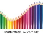 color pencils isolated on white ... | Shutterstock . vector #679974439
