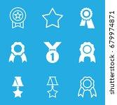 rosette icons set. set of 9... | Shutterstock .eps vector #679974871