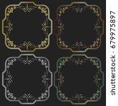 vintage frames and corners | Shutterstock . vector #679975897