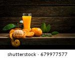 still life glass of fresh... | Shutterstock . vector #679977577