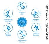 winter sports icons set  4 of 4 ... | Shutterstock .eps vector #679981504