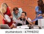 multitasking | Shutterstock . vector #67998202