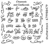 collection of hand drawn... | Shutterstock .eps vector #679988479
