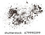 Pile dirt isolated on white...