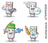 set of flashdisk character with ... | Shutterstock .eps vector #679999309