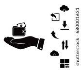wallet in hand icon  vector... | Shutterstock .eps vector #680001631