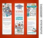 vector set of cartoon education ...   Shutterstock .eps vector #680003041