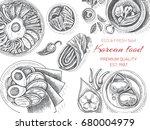 vector illustration sketch  ... | Shutterstock .eps vector #680004979