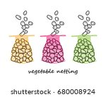 color netting for storing and... | Shutterstock .eps vector #680008924