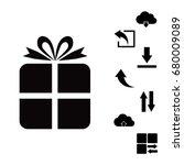gift icon  vector best flat... | Shutterstock .eps vector #680009089