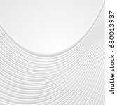 abstract white wavy lines... | Shutterstock .eps vector #680013937