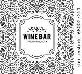 wine list design. vector... | Shutterstock .eps vector #680027251